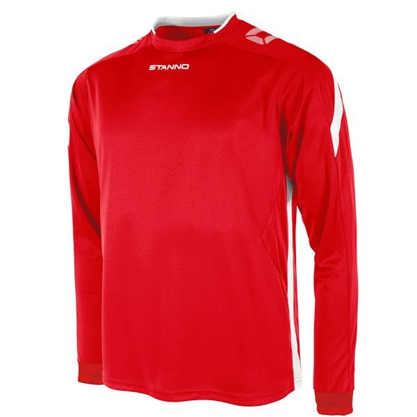 Stanno Drive Red/White LS Football Shirt