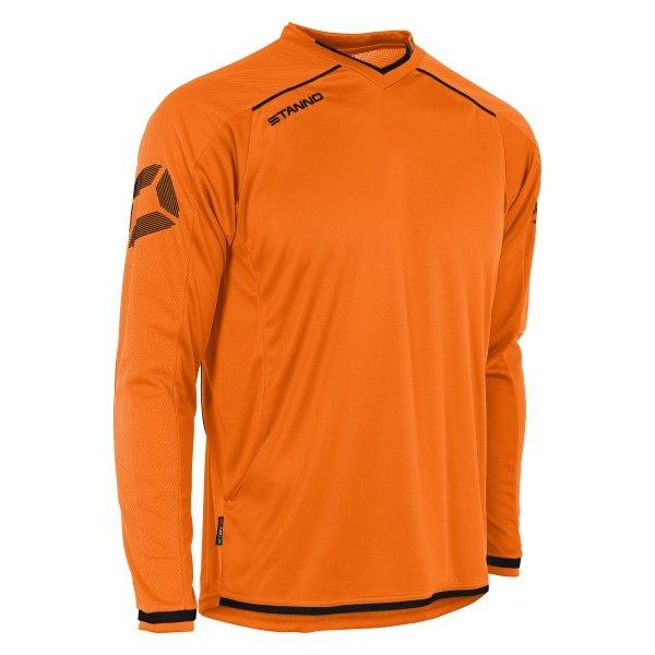 Stanno Futura Orange/Black Long Sleeve Football Shirt