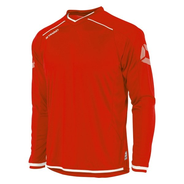 Stanno Futura Red/White Long Sleeve Football Shirt