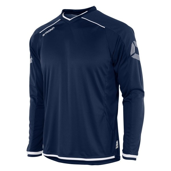 Stanno Futura Navy/White Long Sleeve Football Shirt