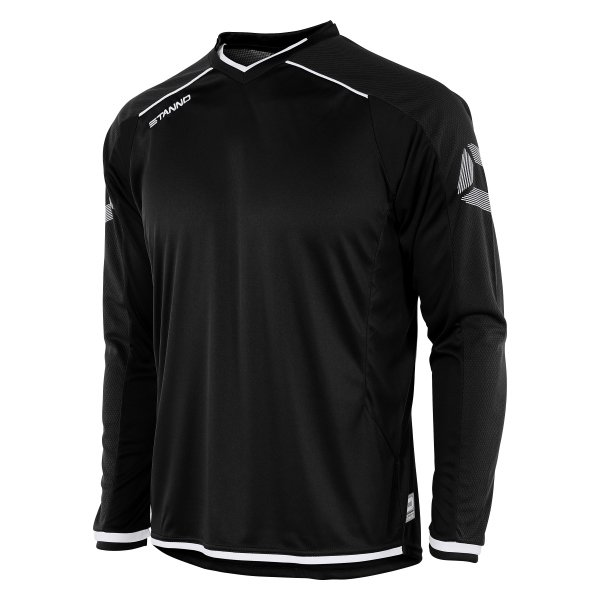Stanno Futura Black/White Long Sleeve Football Shirt
