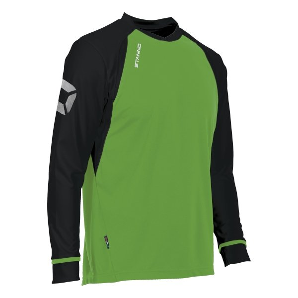 Stanno Liga Bright Green/Black LS Football Shirt