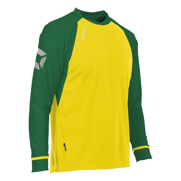 Stanno Liga Yellow/Green LS Football Shirt