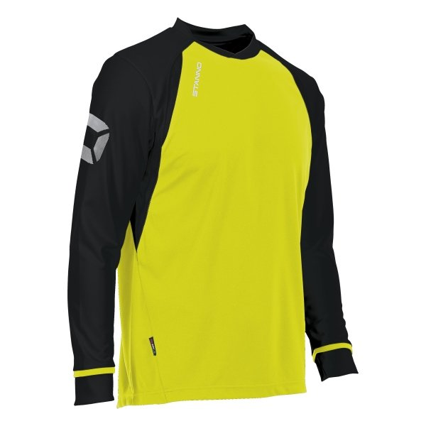 Stanno Liga Neon Yellow/Black LS Football Shirt