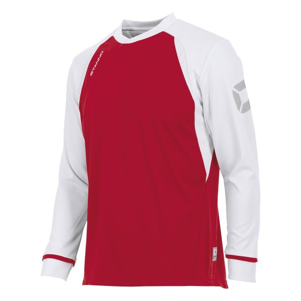 Stanno Liga Red/White LS Football Shirt