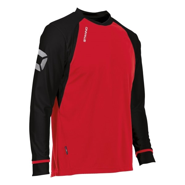 Stanno Liga Red/Black LS Football Shirt