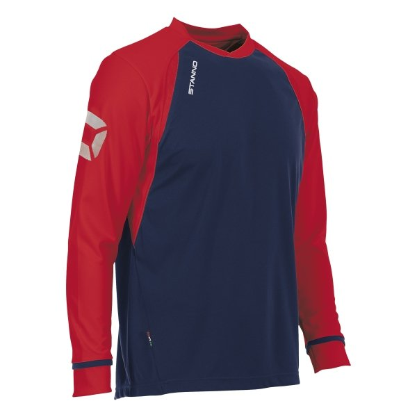 Stanno Liga Navy/Red LS Football Shirt