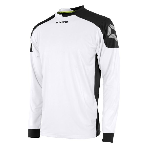 Stanno Campione White/Black Long Sleeve Football Shirt