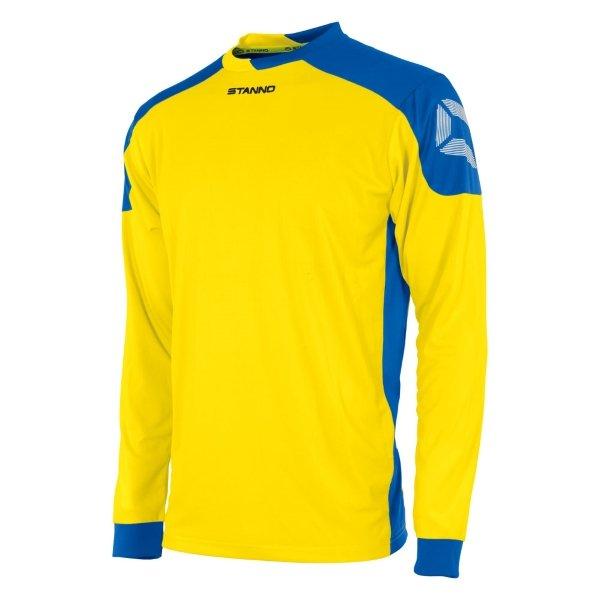 Stanno Campione Yellow/Royal Long Sleeve Football Shirt