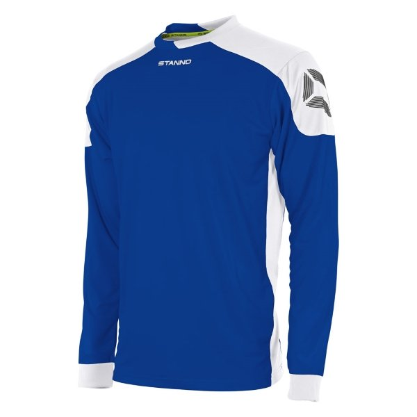 Stanno Campione Deep Blue/White Long Sleeve Football Shirt