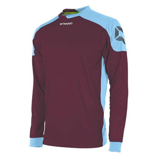 Stanno Campione Maroon/Sky Blue Long Sleeve Football Shirt