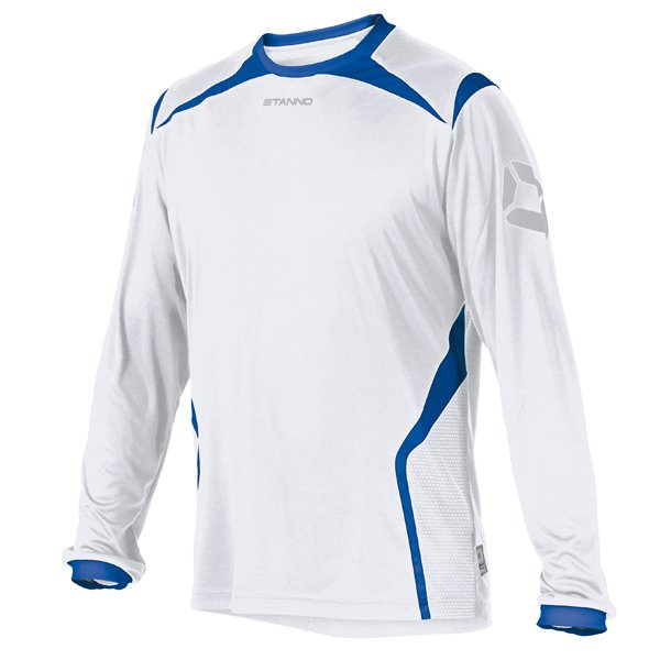 Stanno Torino LS White/Royal Football Shirt