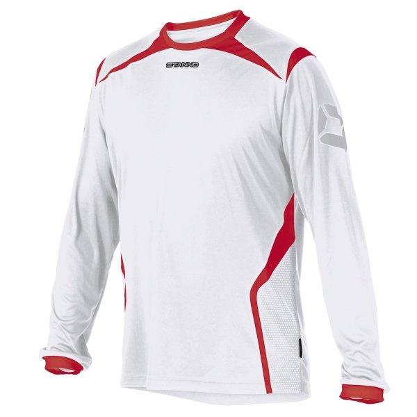 Stanno Torino LS White/Red Football Shirt