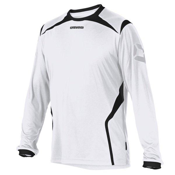 Stanno Torino LS White/Black Football Shirt