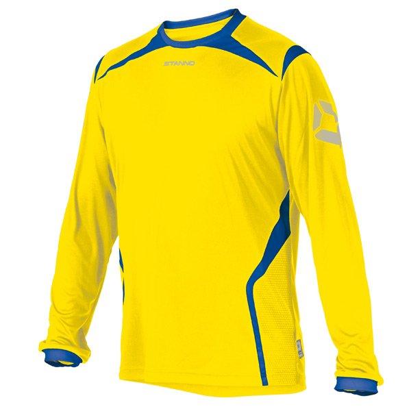Stanno Torino LS Yellow/Royal Football Shirt