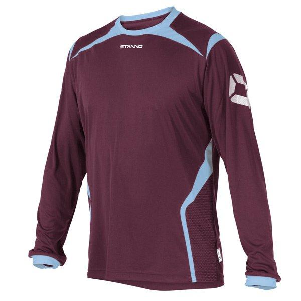 Stanno Torino LS Maroon/Sky Blue Football Shirt