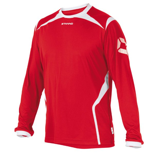 Stanno Torino LS Red/White Football Shirt