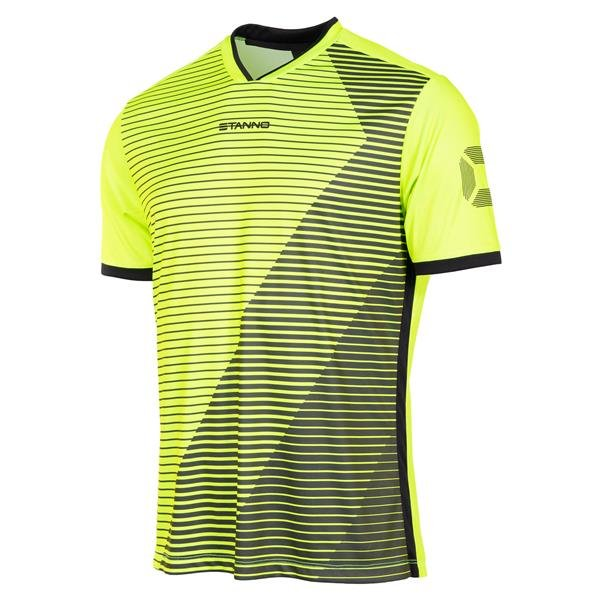Stanno Rush SS Football Shirt Yellow/green