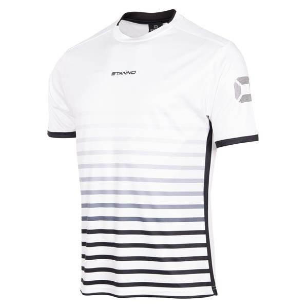 Stanno Fusion SS Football Shirt White/black