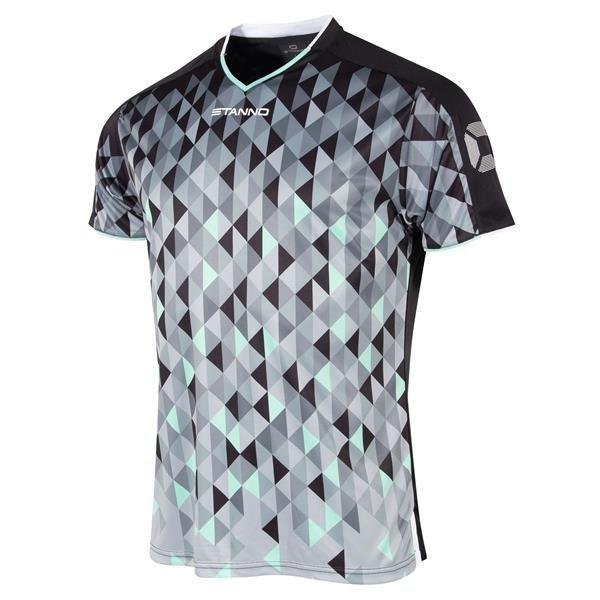 Stanno Prism Black/Turq SS Football Shirt