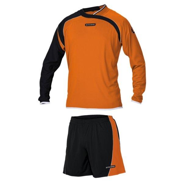 Stanno Palermo Orange/Black LS Football Set