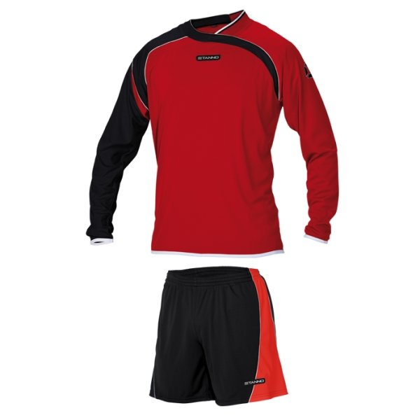 Stanno Palermo Red/Black LS Football Set