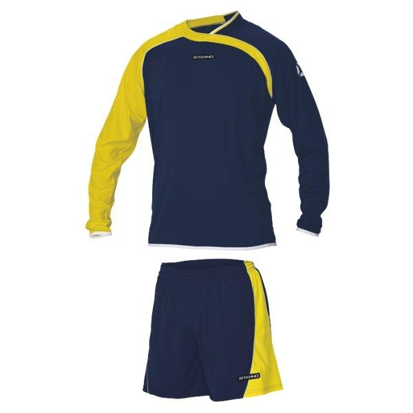 Stanno Palermo Navy/Yellow LS Football Set