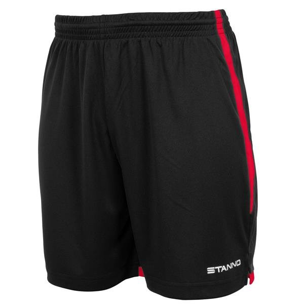 Stanno Focus Black/Red Football Shorts