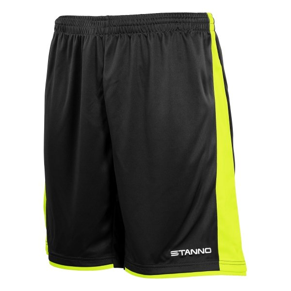Stanno Milan Black/Neon Yellow Football Short