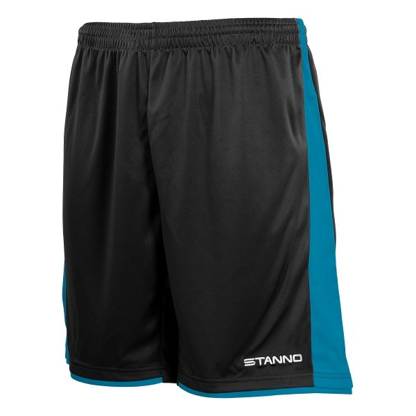 Stanno Milan Black/Aqua Football Short