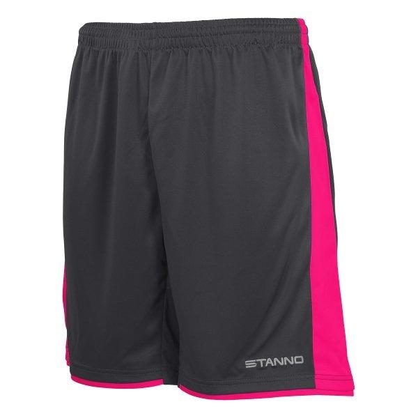 Stanno Milan Anthracite/Pink Football Short