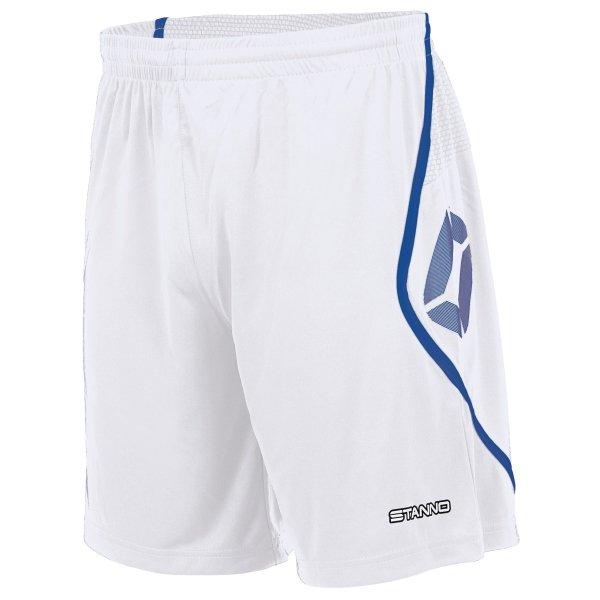 Stanno Pisa White/Royal Football Shorts