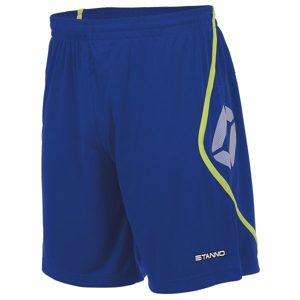 Stanno Pisa Deep Blue/Neon Yellow Football Shorts