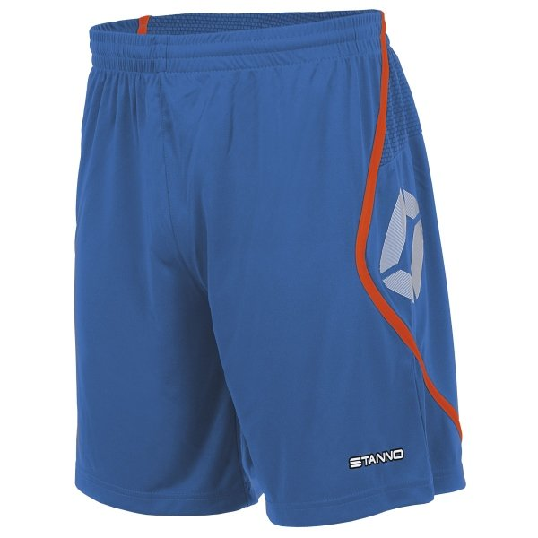 Stanno Pisa Blue/Shocking Orange Football Shorts