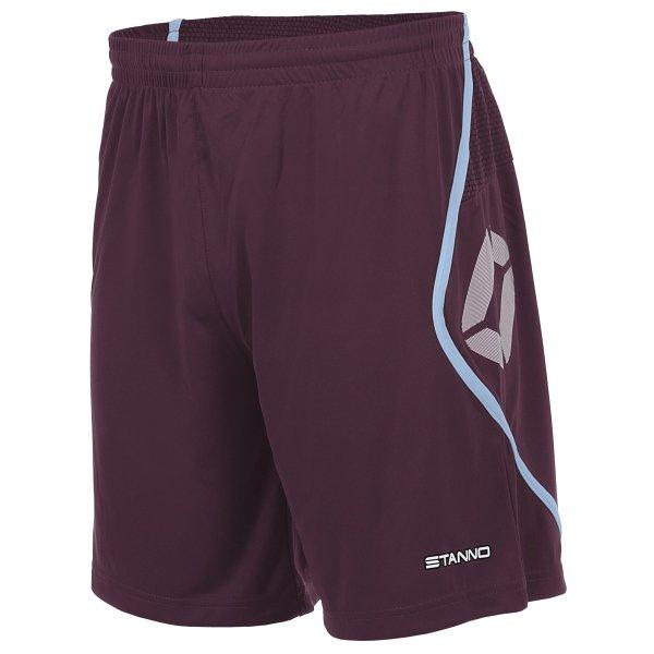 Stanno Pisa Maroon/Sky/Blue Football Shorts