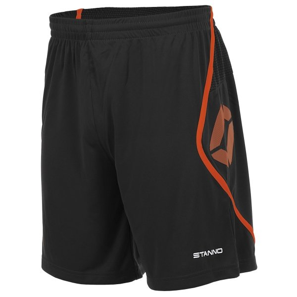 Stanno Pisa Black/Shocking Orange Football Shorts