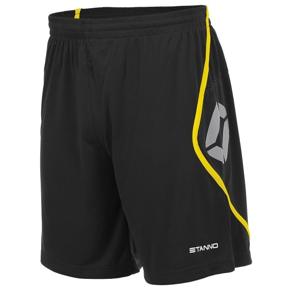 Stanno Pisa Black/Yellow Football Shorts