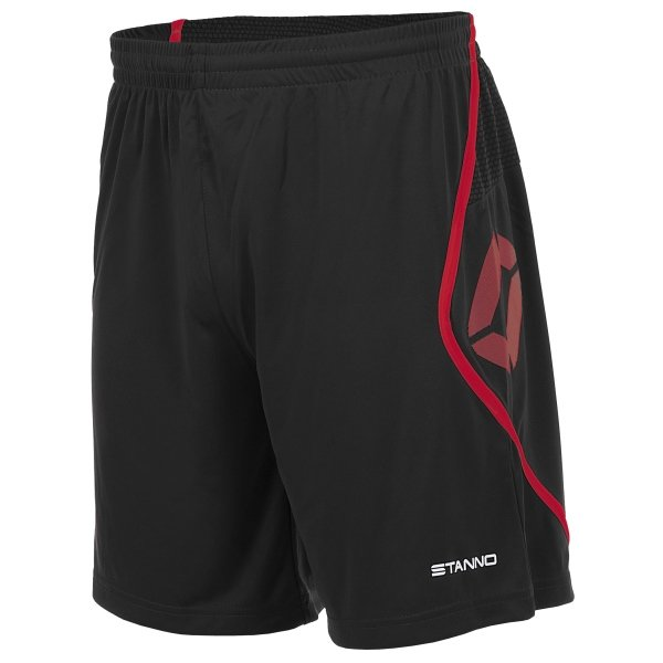 Stanno Pisa Black/Red Football Shorts