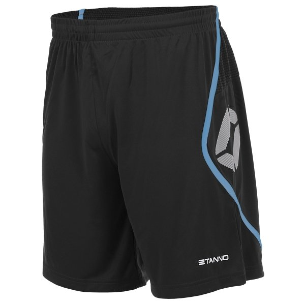 Stanno Pisa Black/Aqua Football Shorts