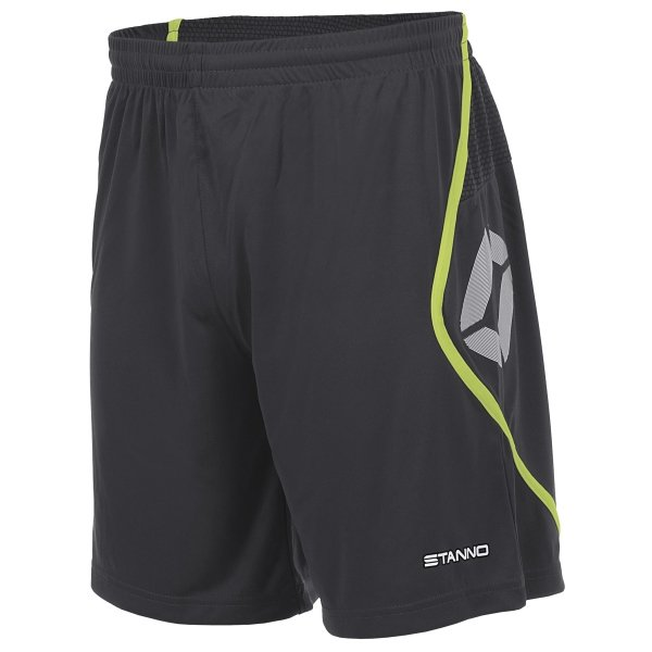 Stanno Pisa Anthracite/Neon Yellow Football Shorts