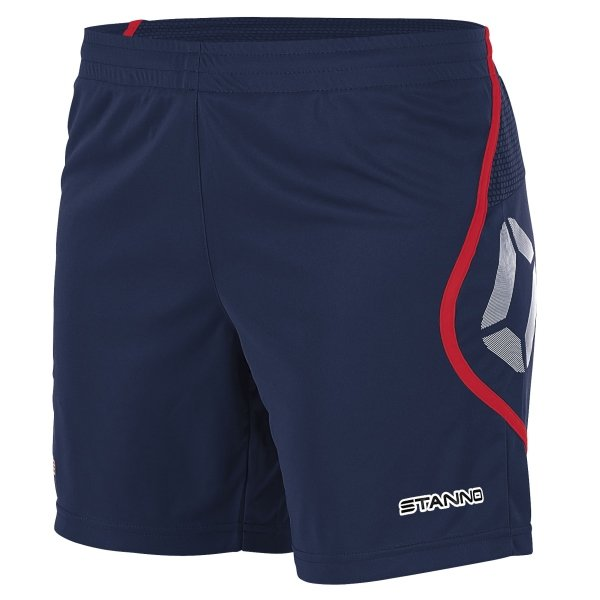 Stanno Pisa Navy/Red Football Shorts Ladies