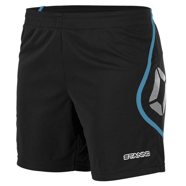 Stanno Pisa Black/Aqua Football Shorts Ladies