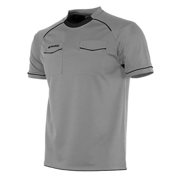 Stanno Bergamo SS Referee Grey/Black Shirt