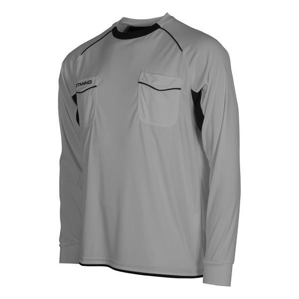 Stanno Bergamo LS Referee Grey/Black Shirt
