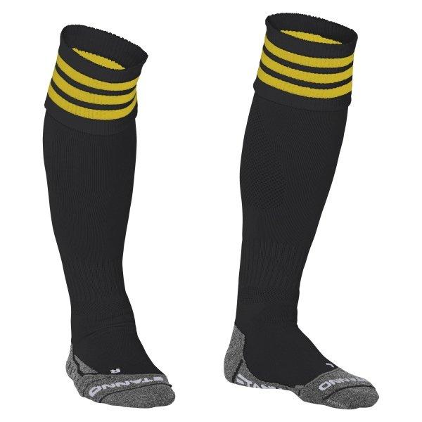 Stanno Ring Black/Yellow Football Socks