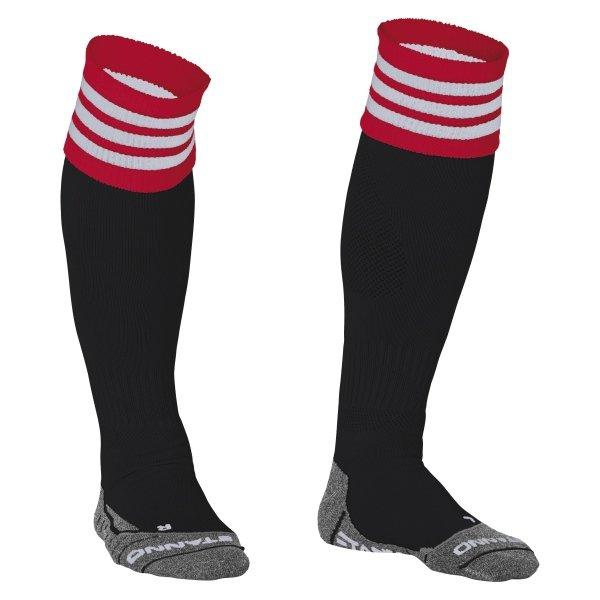 Stanno Ring Black/Red/White Football Socks