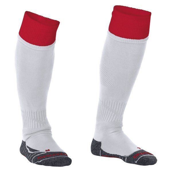 Stanno Combi White/Red Football Socks