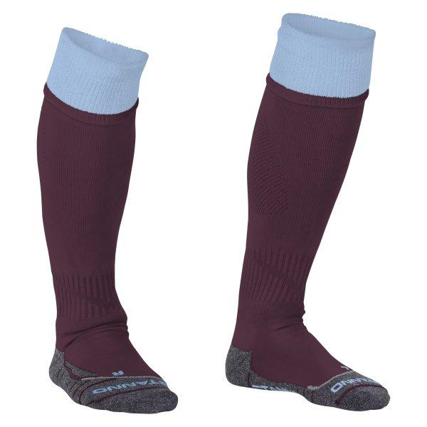 Stanno Combi Maroon/Sky Football Socks