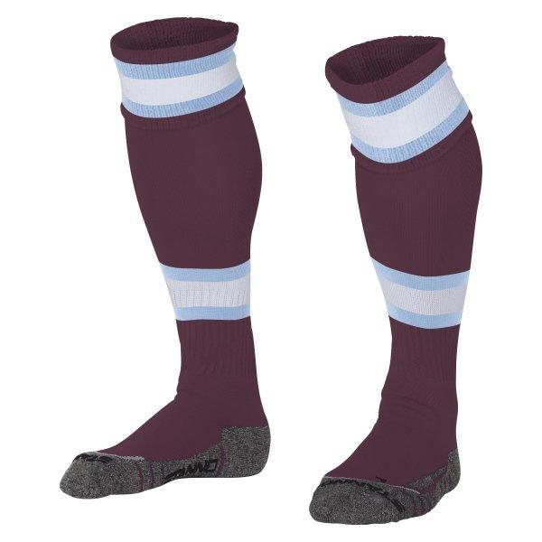 Stanno League Maroon/White Football Socks