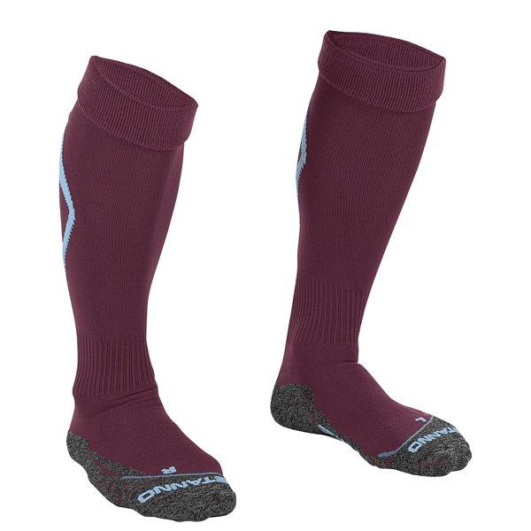 Stanno Forza Maroon/Sky Blue Football Sock